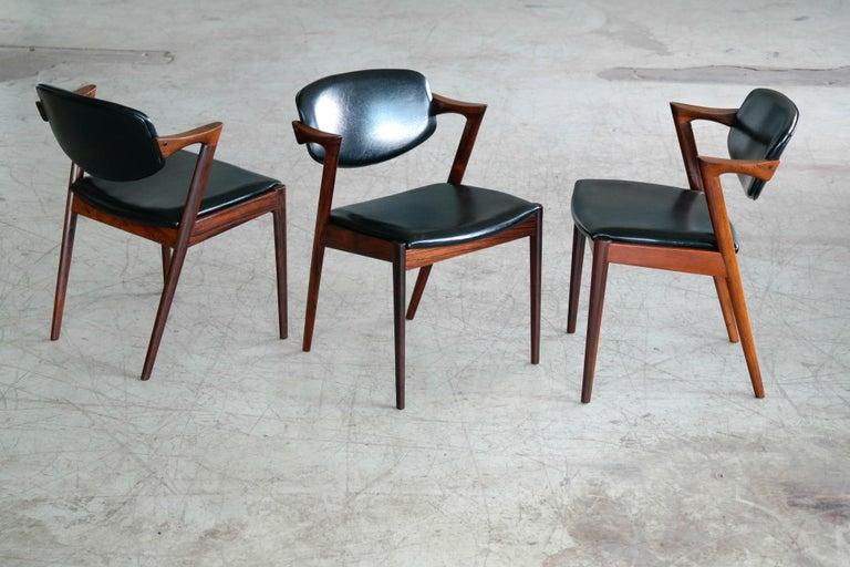 Set of 14 Kai Kristiansen Model 42 Rosewood Dining Chairs for Schou Andersen 2