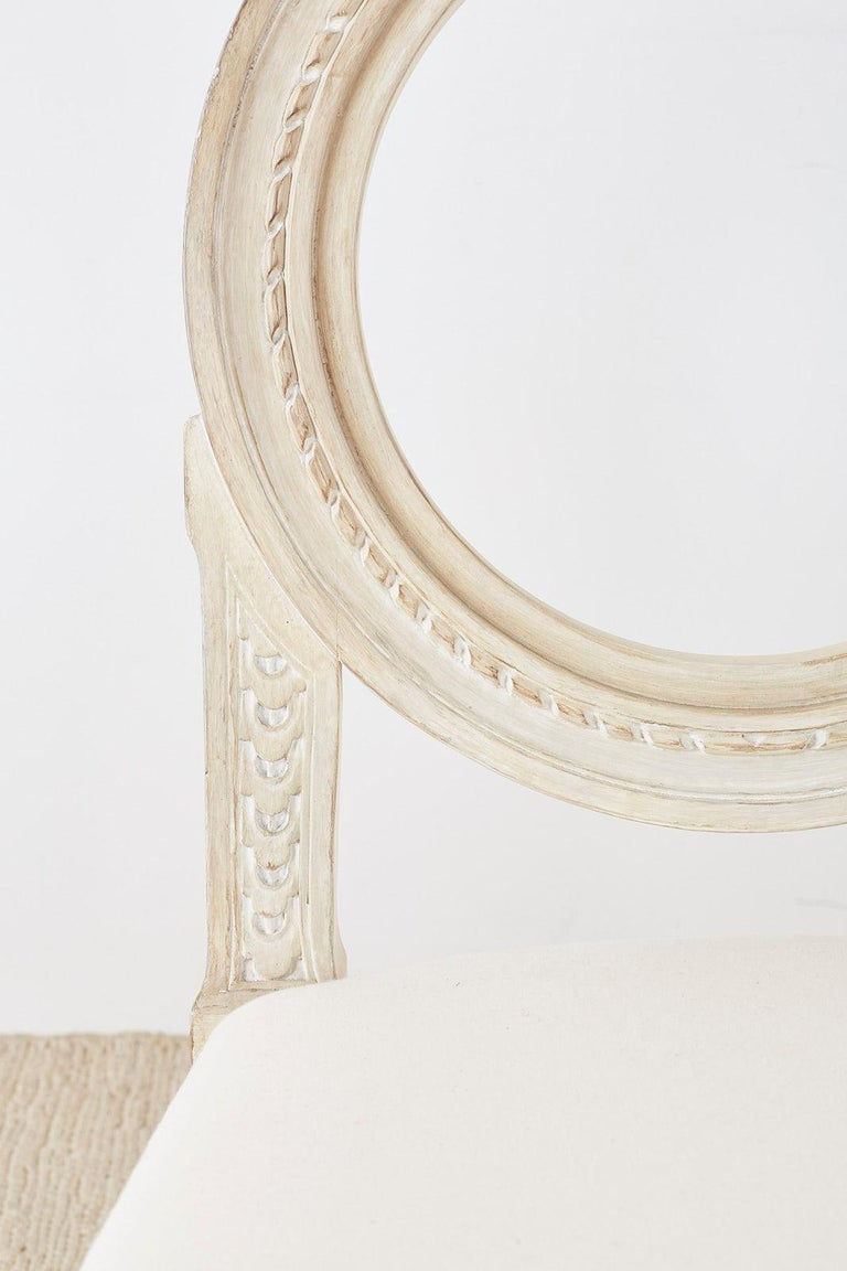 Set of 14 Louis XVI Gustavian Style Dining Chairs For Sale 4