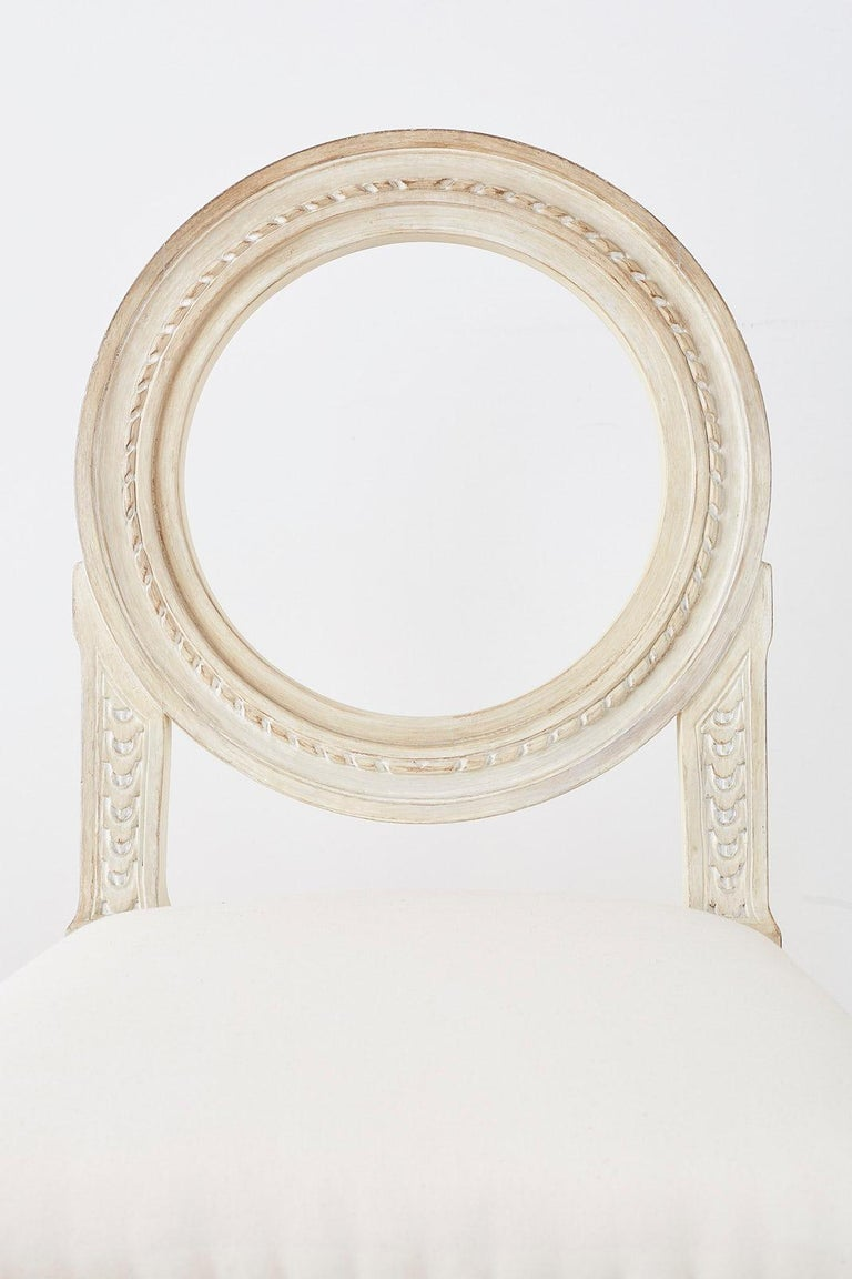 Set of 14 Louis XVI Gustavian Style Dining Chairs For Sale 7
