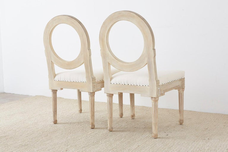 Set of 14 Louis XVI Gustavian Style Dining Chairs For Sale 9