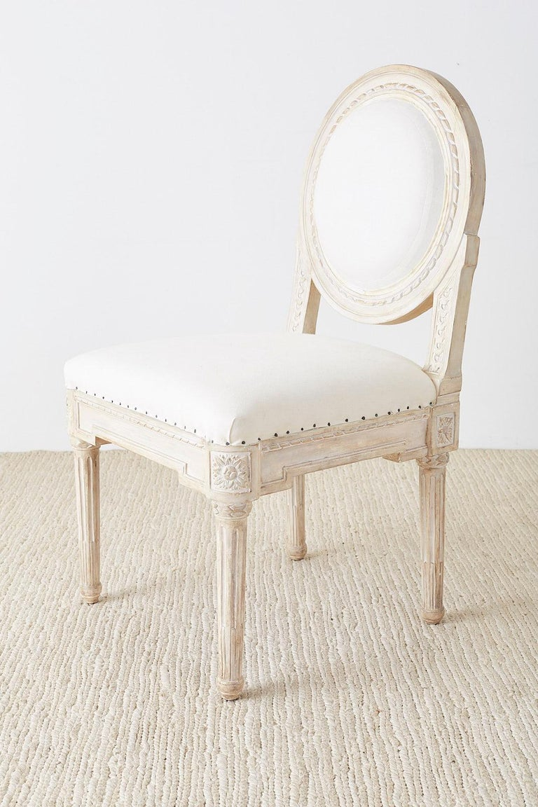 Set of 14 Louis XVI Gustavian Style Dining Chairs For Sale 10