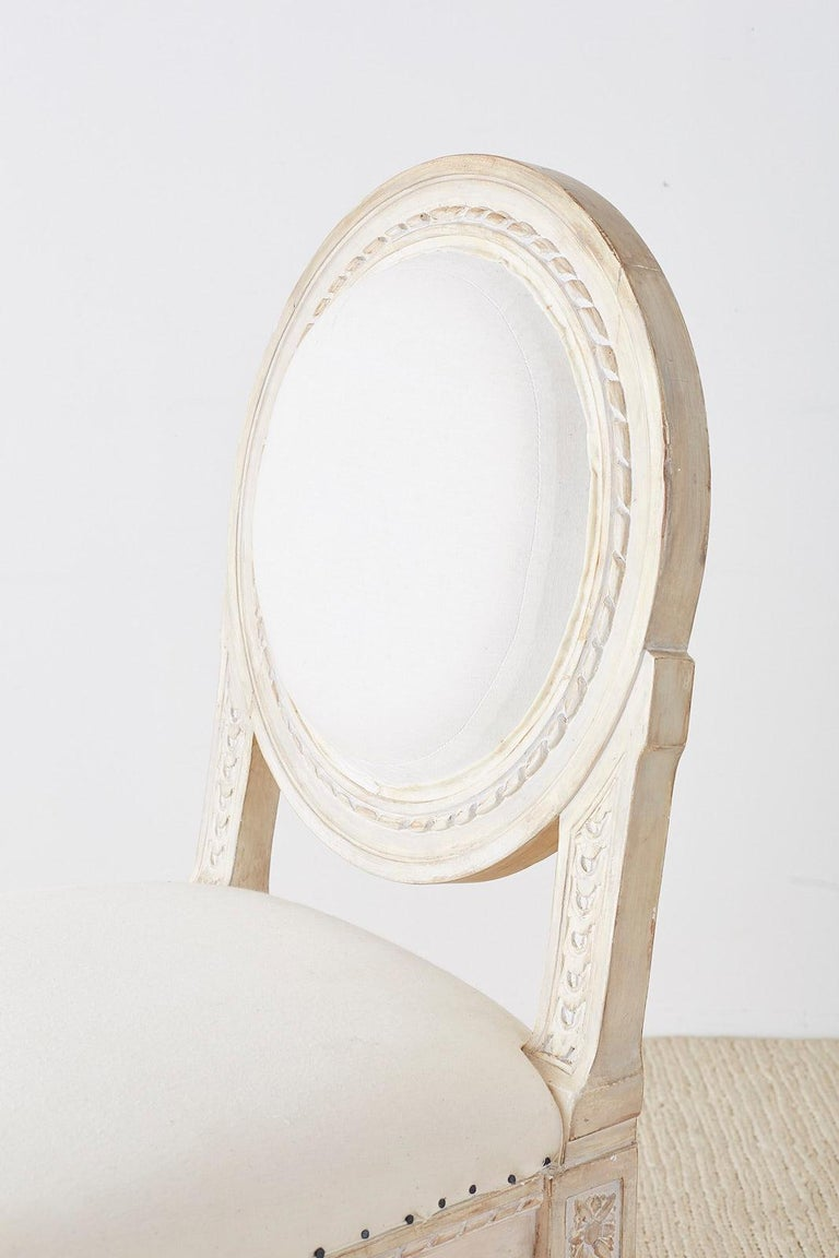 Set of 14 Louis XVI Gustavian Style Dining Chairs For Sale 11