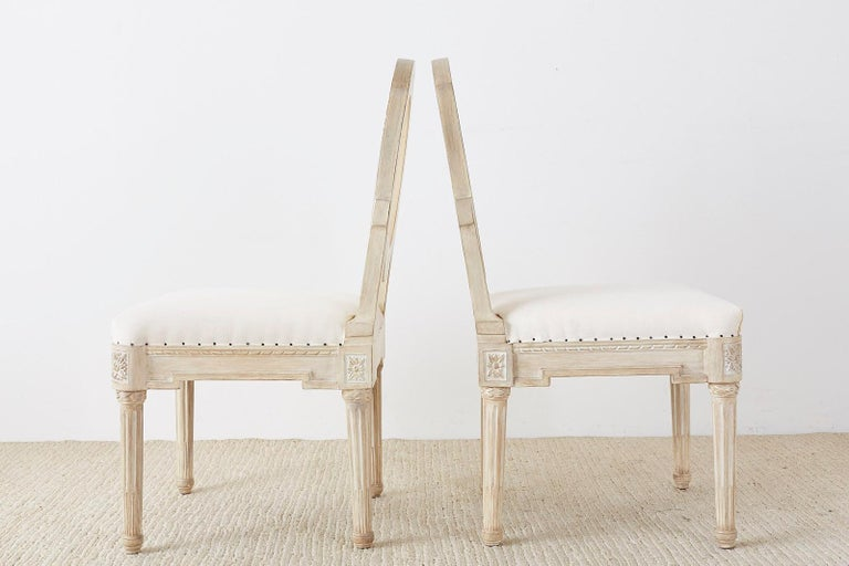 Set of 14 Louis XVI Gustavian Style Dining Chairs For Sale 3