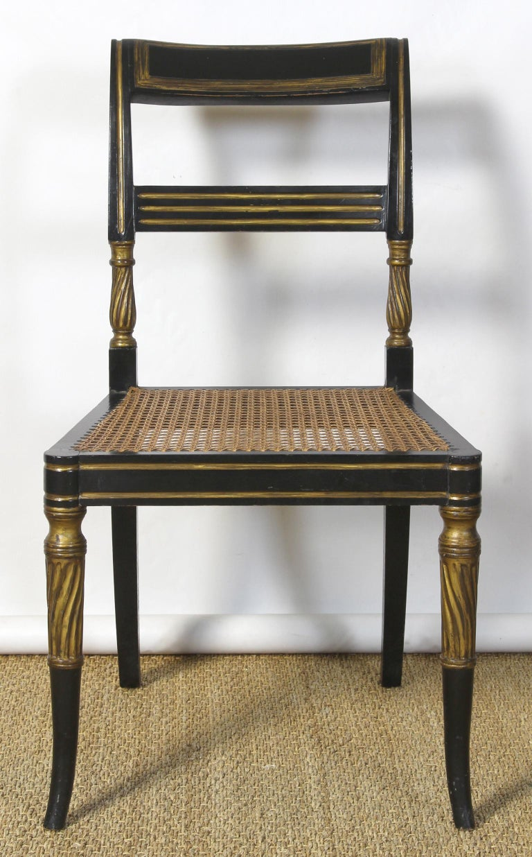 Set of 14 Regency Dining Chairs For Sale 5