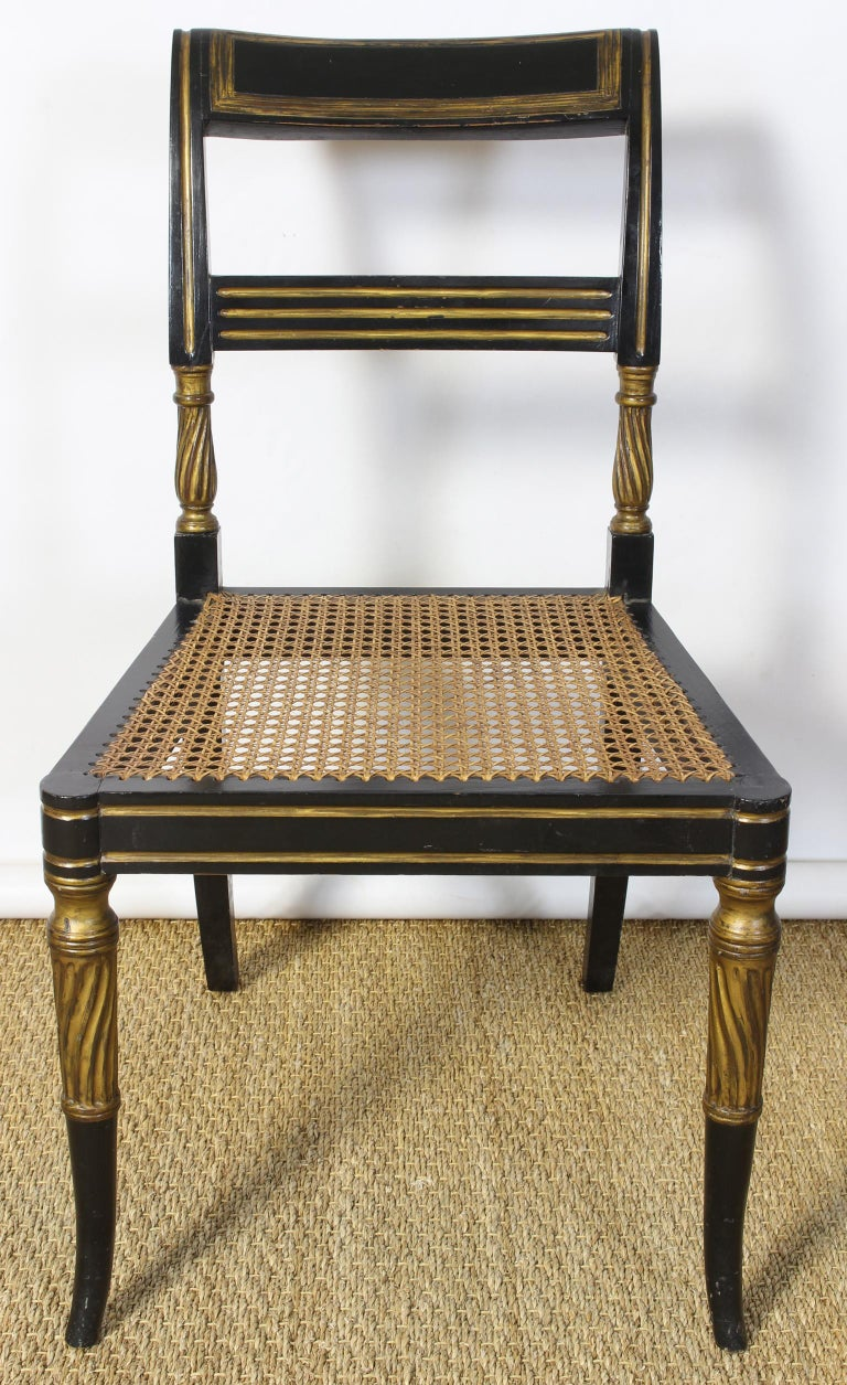 Set of 14 Regency Dining Chairs For Sale 6