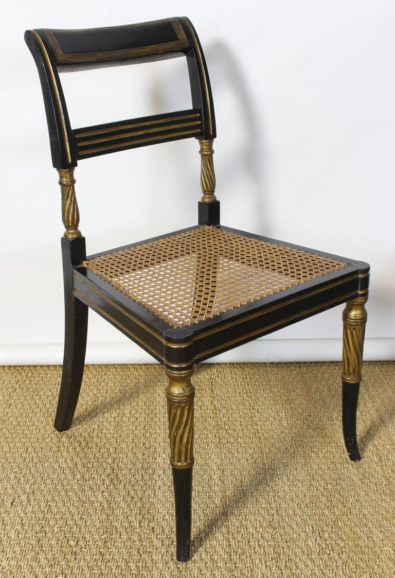Set of 14 Regency Dining Chairs For Sale 7