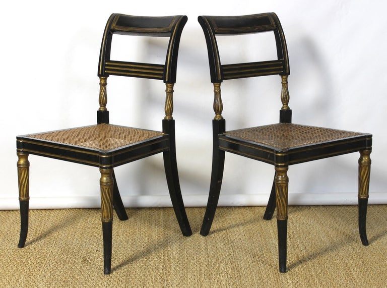 Early 19th Century Set of 14 Regency Dining Chairs For Sale