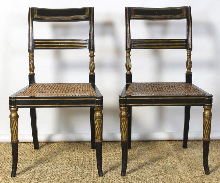 Set of 14 Regency Dining Chairs For Sale 1