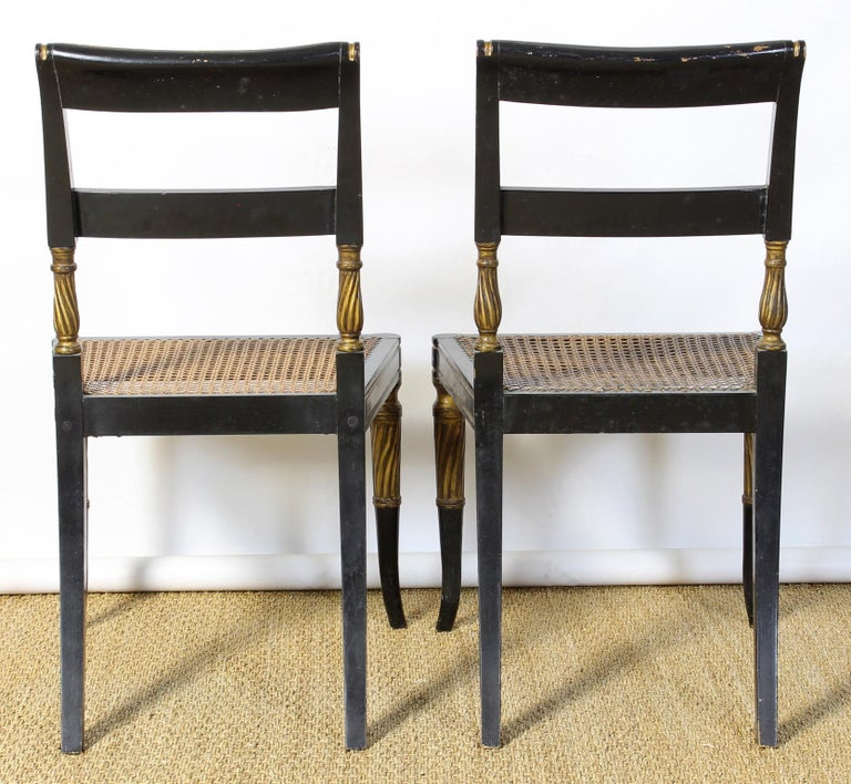 Set of 14 Regency Dining Chairs For Sale 3