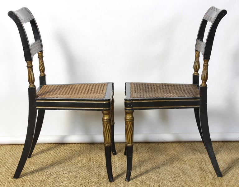 Set of 14 Regency Dining Chairs For Sale 4