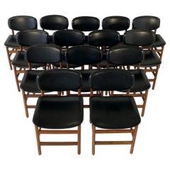 Set of 14 Teak Danish Dining Chairs, 1960s