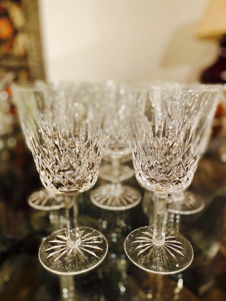 Set of 14 Vintage Waterford Crystal Lismore Water Goblets, Germany, circa 1990s 4