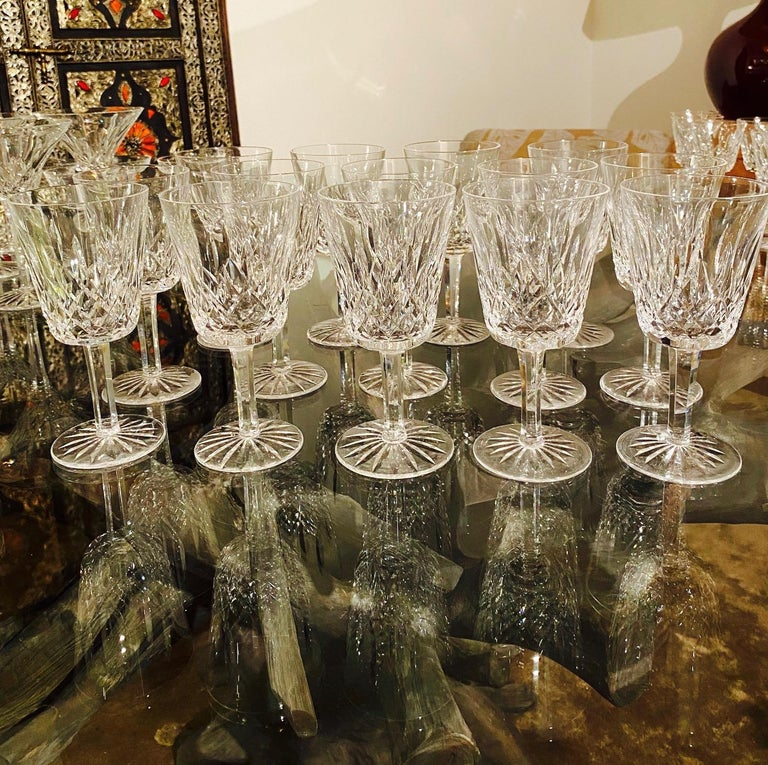 Set of 14 Vintage Waterford Crystal Lismore Water Goblets, Germany, circa 1990s 5