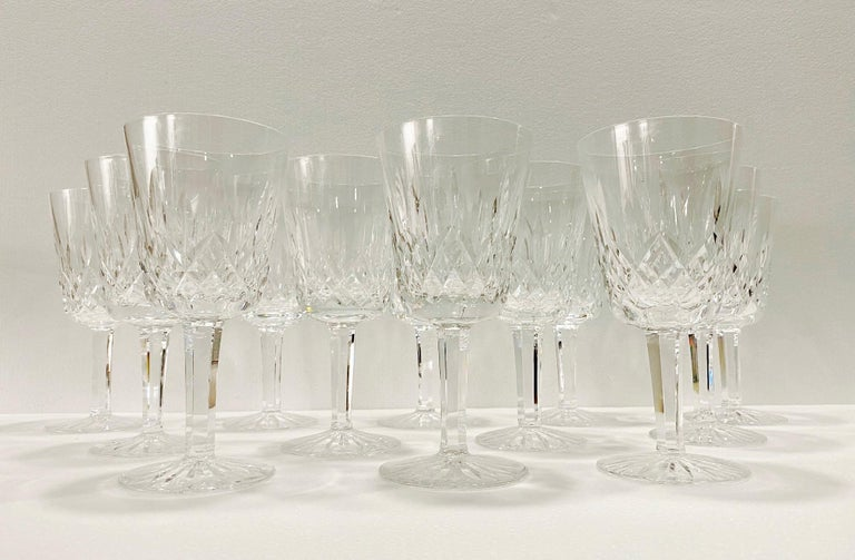 Set of 14 Vintage Waterford Crystal Lismore Water Goblets, Germany, circa 1990s 6