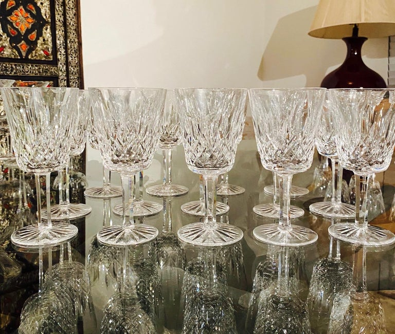 Late 20th Century Set of 14 Vintage Waterford Crystal Lismore Water Goblets, Germany, circa 1990s