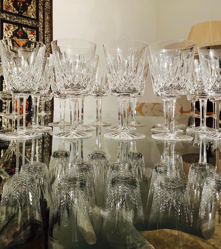 Set of 14 Vintage Waterford Crystal Lismore Water Goblets, Germany, circa 1990s 1