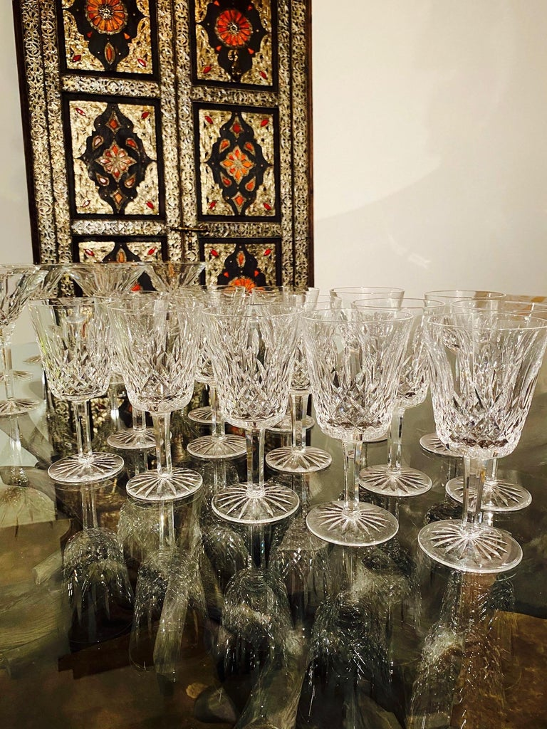 Set of 14 Vintage Waterford Crystal Lismore Water Goblets, Germany, circa 1990s 3