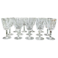 Set of 14 Vintage Waterford Crystal Lismore Water Goblets, Germany, circa 1990s