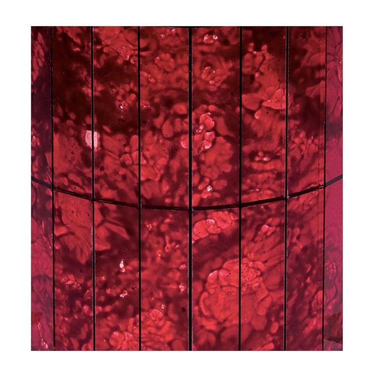 Set of 15 Damask Ruby Decorative Panels For Sale