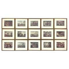 Set of 15 Early 19th Century Hand Colored Military Prints