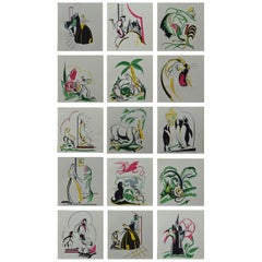 Set of 15 Original Art Deco Prints after Phyllis A. Trery, circa 1930