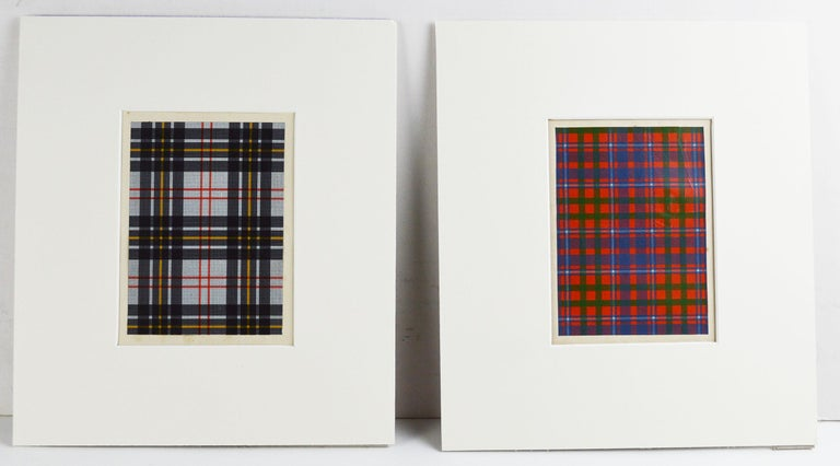 Paper Set of 16 Antique Prints of Scottish Clan Tartans, circa 1860 For Sale