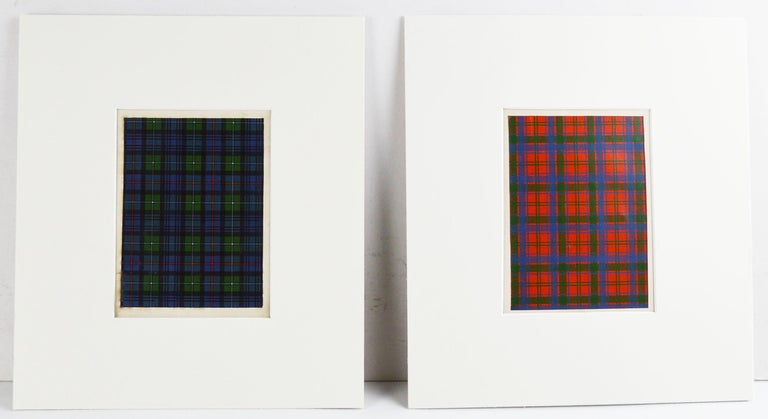 Set of 16 Antique Prints of Scottish Clan Tartans, circa 1860 For Sale 1