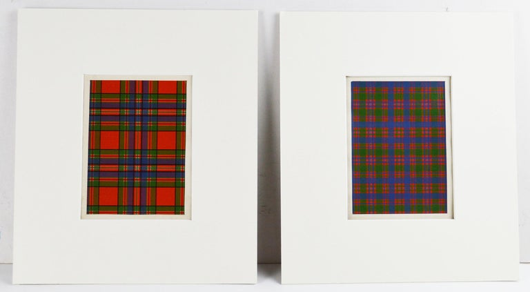 Set of 16 Antique Prints of Scottish Clan Tartans, circa 1860 For Sale 2