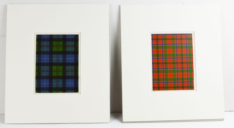 Other Set of 16 Antique Prints of Scottish Clan Tartans, circa 1860 For Sale