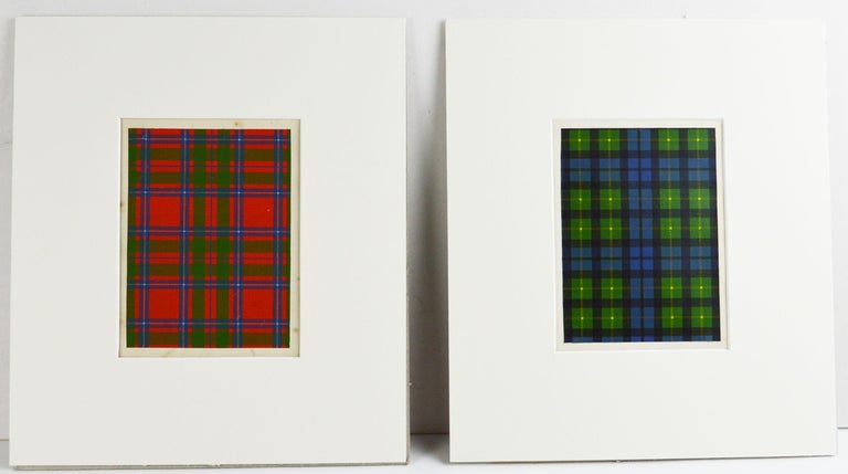Set of 16 Antique Prints of Scottish Clan Tartans, circa 1860 In Good Condition For Sale In St Annes, Lancashire