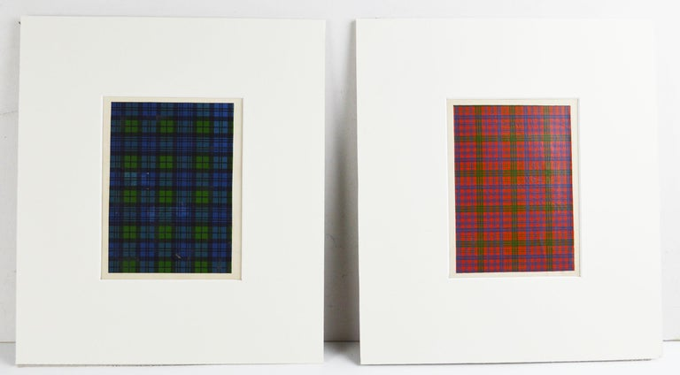 Mid-19th Century Set of 16 Antique Prints of Scottish Clan Tartans, circa 1860 For Sale
