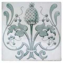 Set of 16 Art Nouveau Glazed Tiles, Belgium, 1920