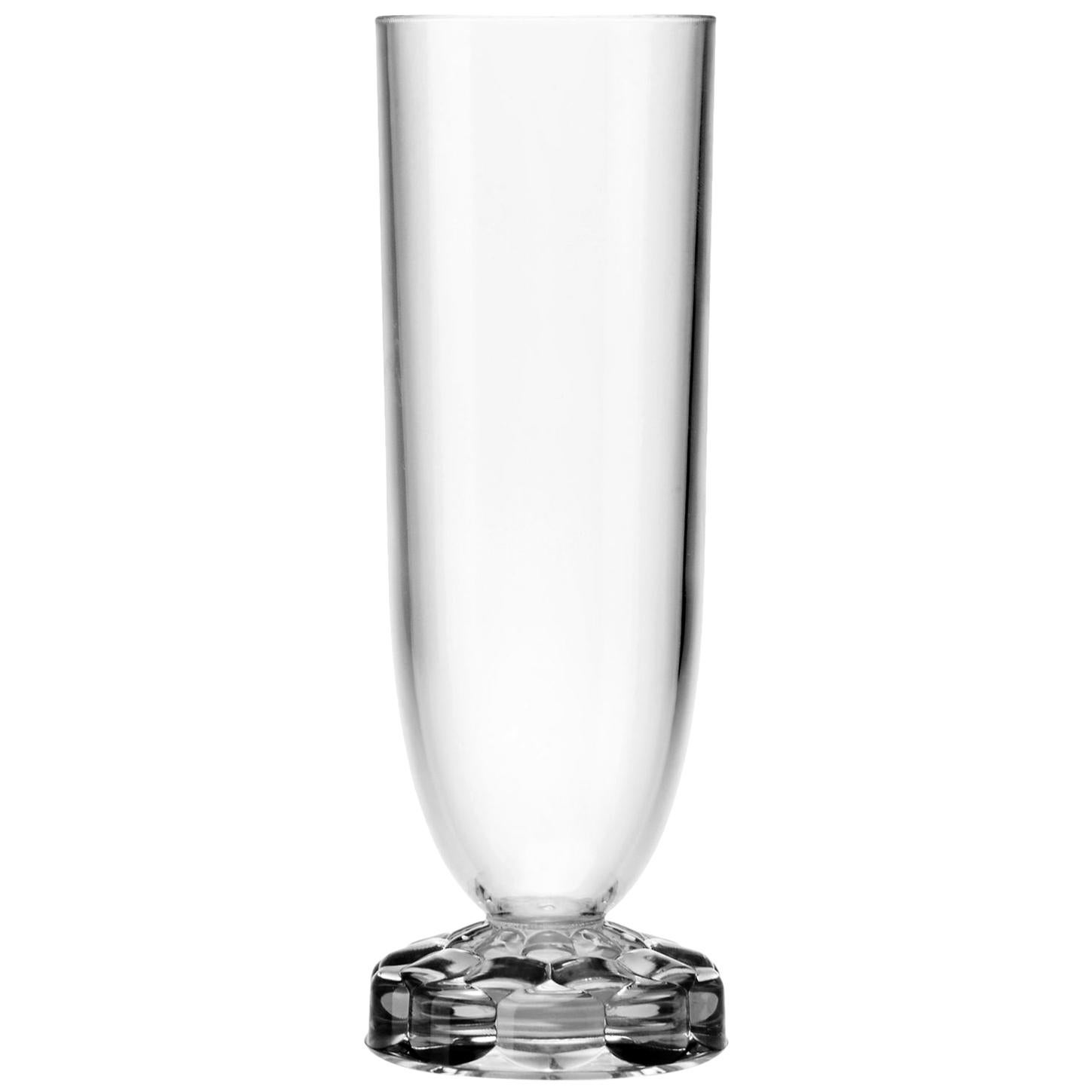 Set of 16 Kartell Jellies Flutes in Crystal by Patricia Urquiola