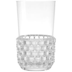 Set of 16 Large Kartell Jellies Glasses in Crystal by Patricia Urquiola