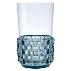 Set of 16 Large Kartell Jellies Glasses in Light Blue by Patricia Urquiola