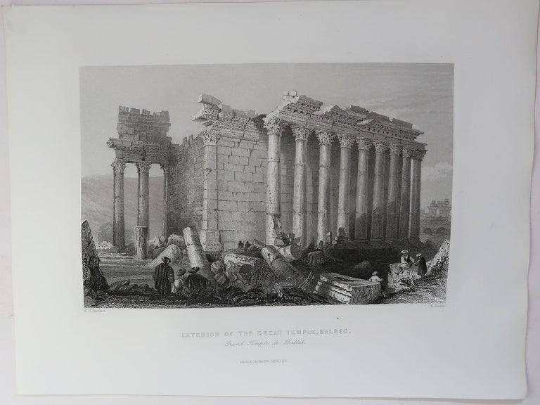 Wonderful set of 16 prints of The Middle East  Steel engravings.   Published by Jackson, C 1840  Unframed.