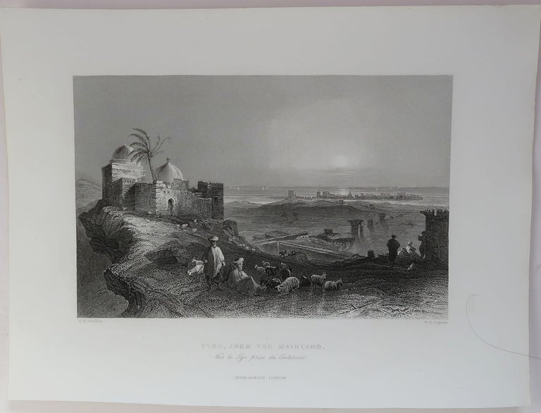 Islamic Set of 16 Original Antique Prints of the Levant / Holy Land /Middle East, C 1840