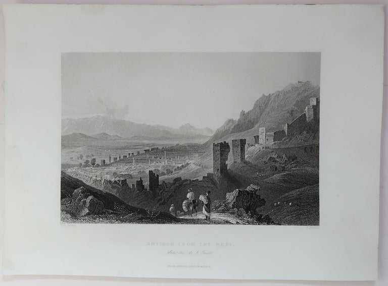 English Set of 16 Original Antique Prints of the Levant / Holy Land /Middle East, C 1840