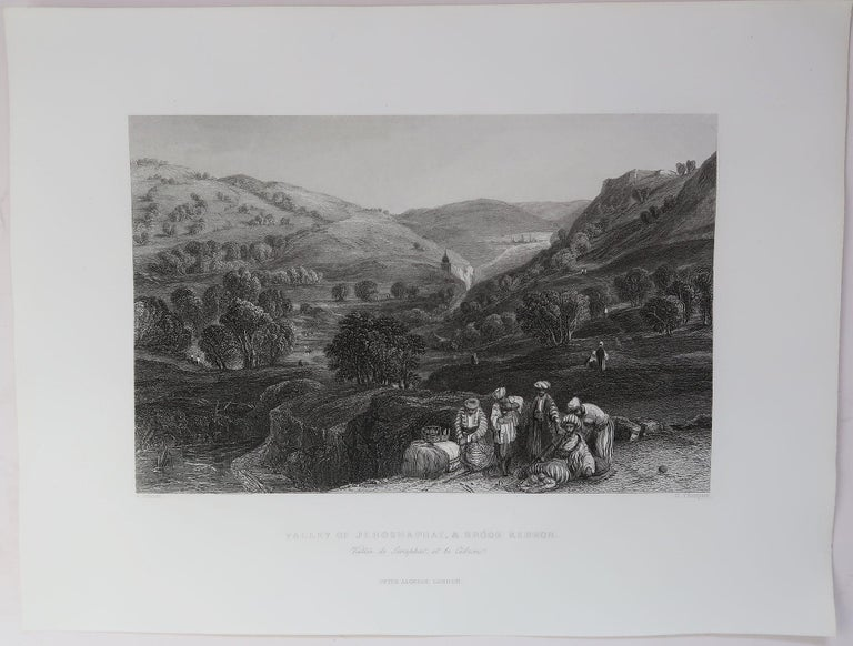Other Set of 16 Original Antique Prints of the Levant / Holy Land /Middle East, C 1840