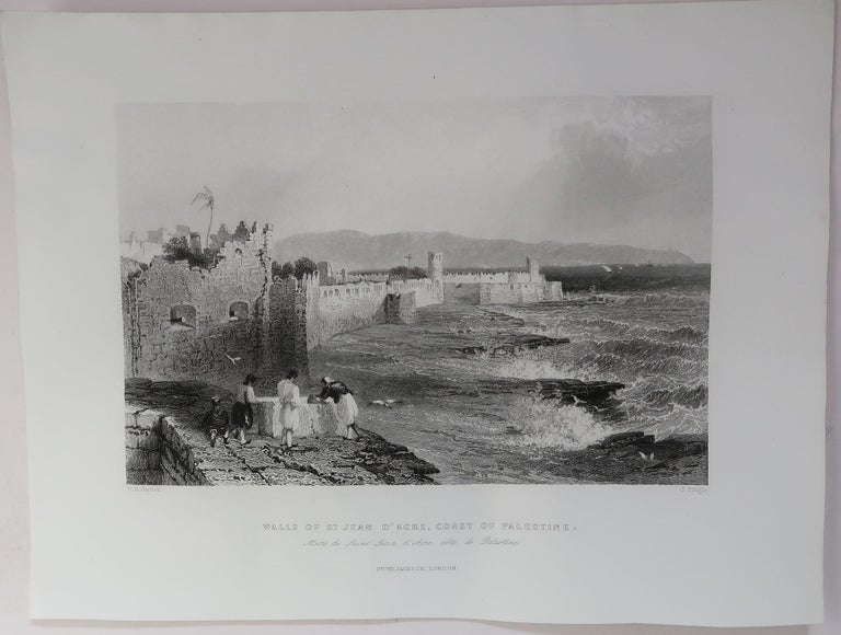 Mid-19th Century Set of 16 Original Antique Prints of the Levant / Holy Land /Middle East, C 1840