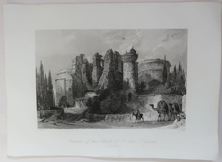 Paper Set of 16 Original Antique Prints of the Levant / Holy Land /Middle East, C 1840