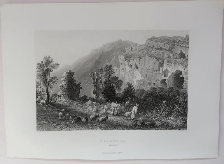 Set of 16 Original Antique Prints of the Levant / Holy Land /Middle East, C 1840 1