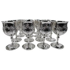 Set of 16 Reed & Barton Sterling Silver Goblets in Francis I Pattern