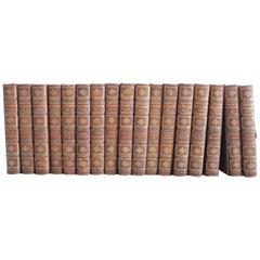 Set of 17 Antique Leather Bound American Statesmen Books