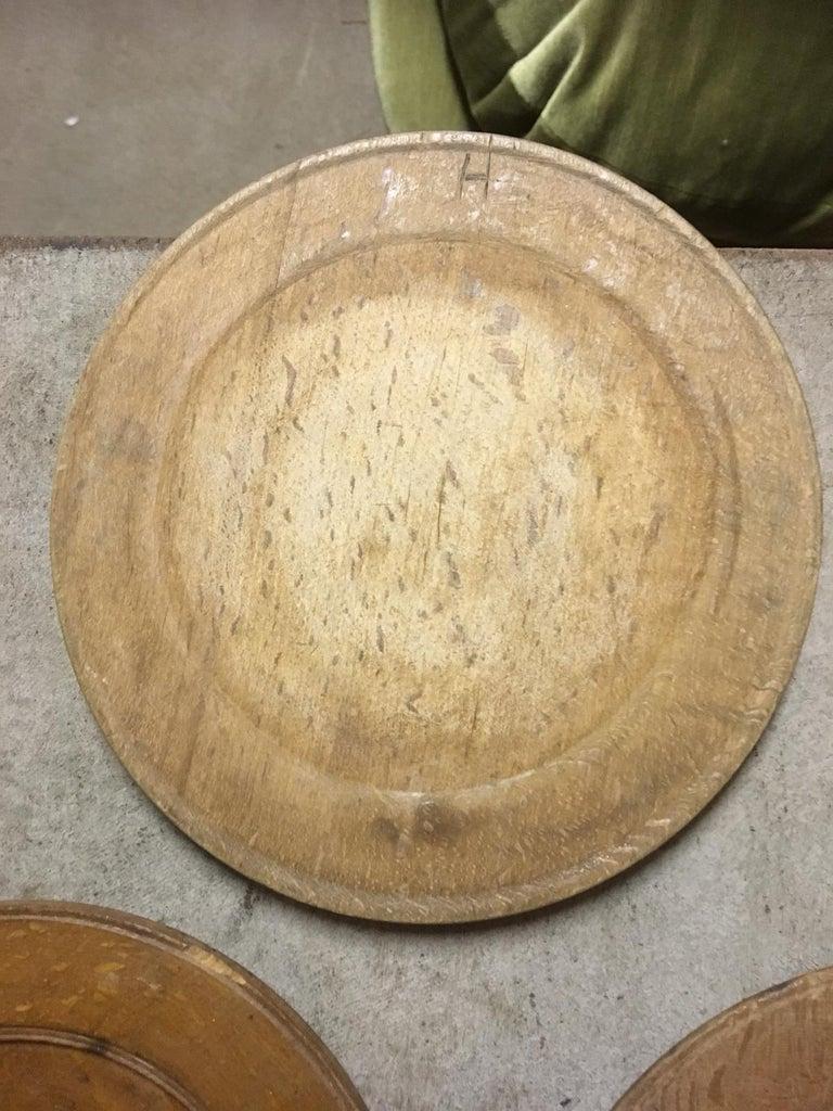 Swedish Wooden Folk Art Dinner Plates or Trays For Sale 13