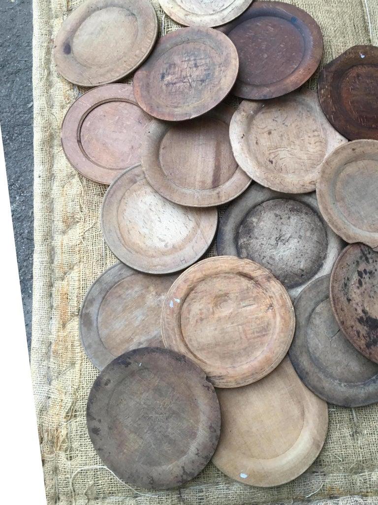 Swedish Wooden Folk Art Dinner Plates or Trays For Sale 1