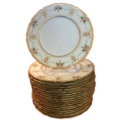 Set of 18 Antique Tiffany Hand Painted Accent Plates