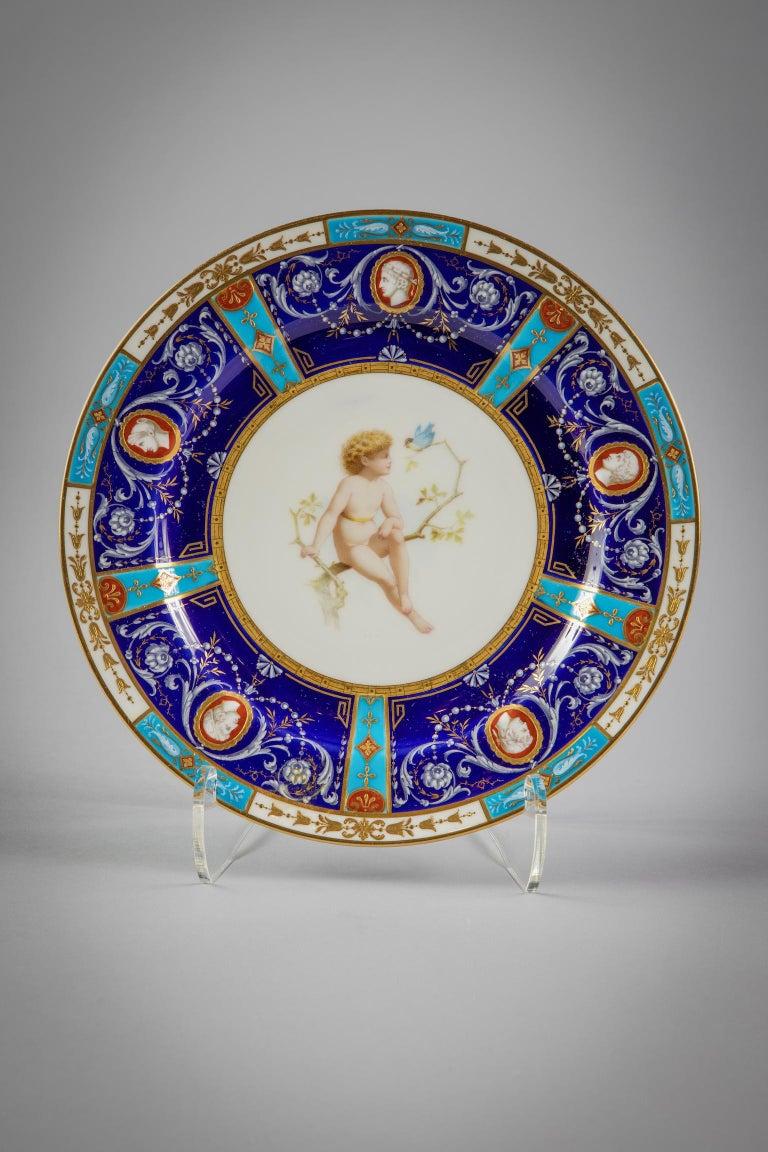Set of 18 English Porcelain Plates, Minton, circa 1880 For Sale 1