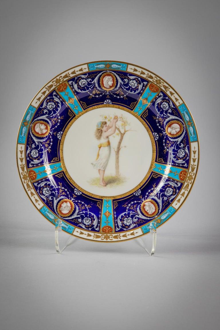 Set of 18 English Porcelain Plates, Minton, circa 1880 For Sale 2