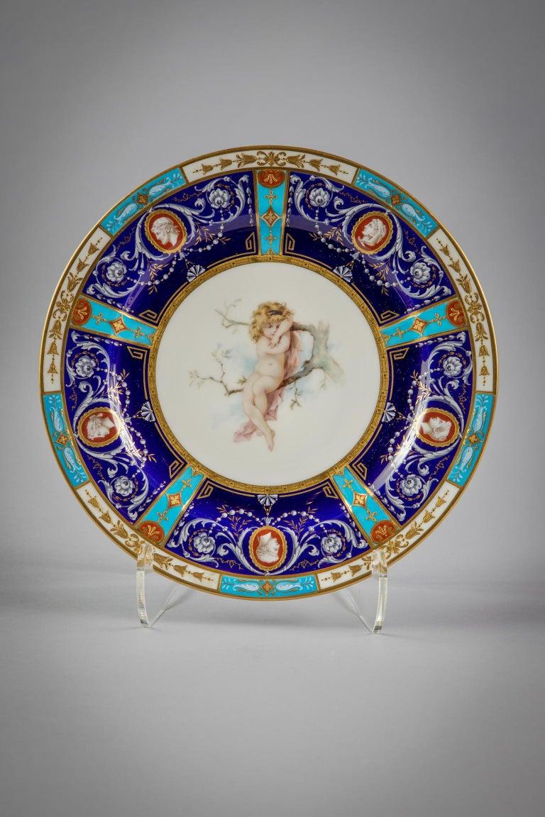 Set of 18 English Porcelain Plates, Minton, circa 1880 For Sale 3